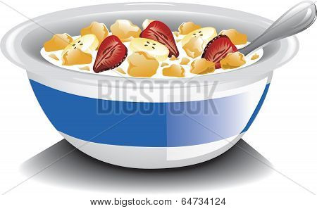 Corn Flakes with Strawberries