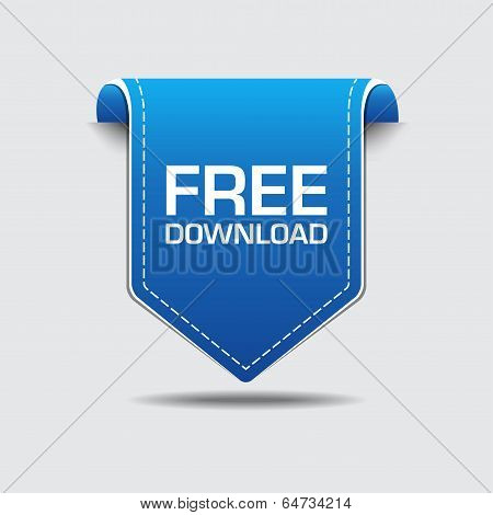 Free Download Blue Label Vector Design