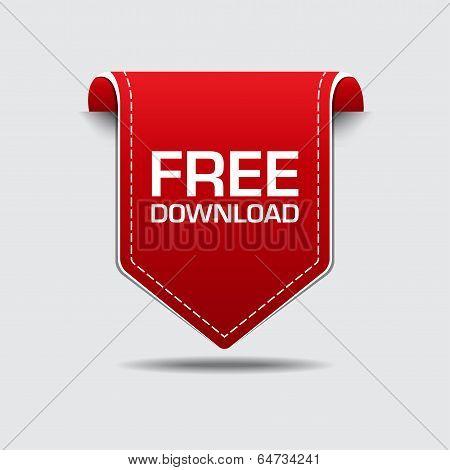 Free Download Red Label Vector Design