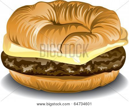 Sausage and Egg Croissant