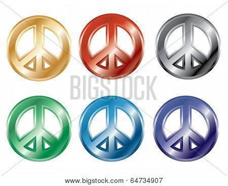 3D Peace Symbols