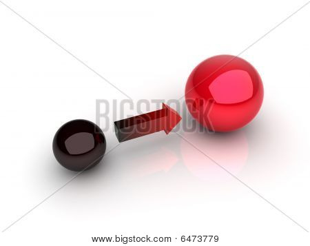 Black And Red Sphere