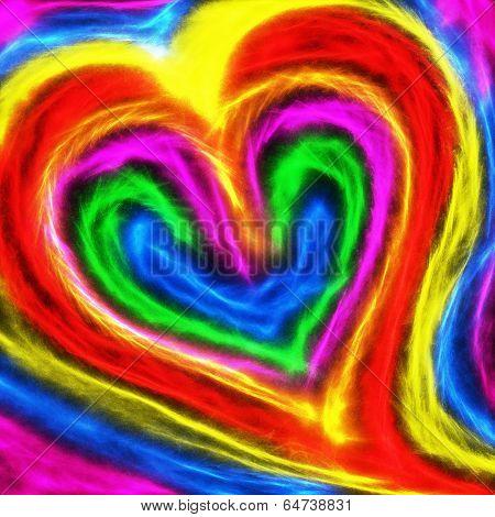 Abstract Heart Shape