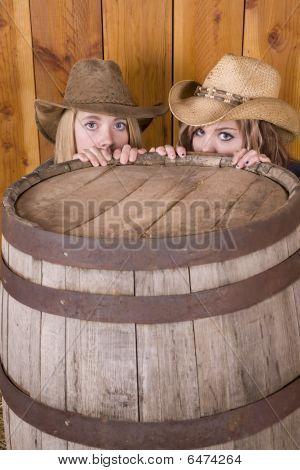 Girls Behind Barrel