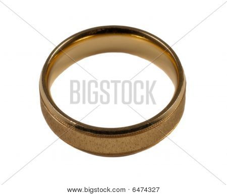 Mens gold wedding ring