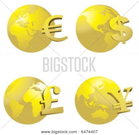 Globe And Money Symbol