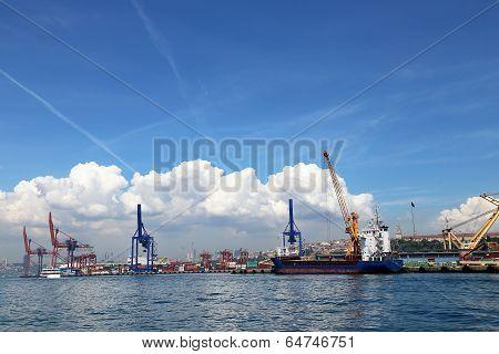 Port Of Haydarpasa In Harem Istanbul