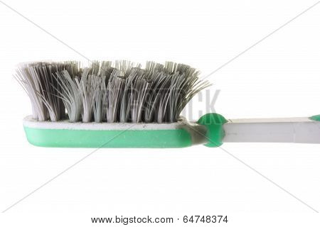 Old Worn Out Toothbrush