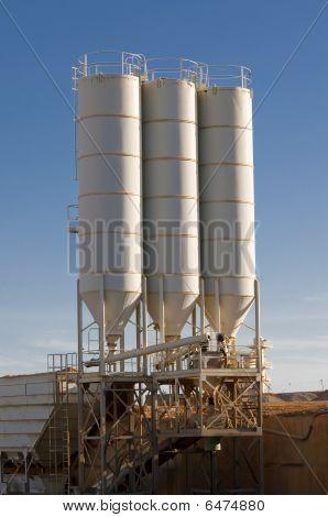 silos of sand