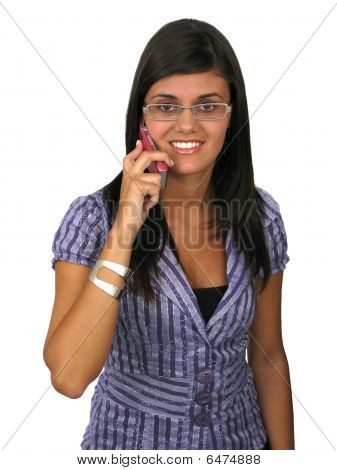 Young Woman Beautiful Using Mobile Phone