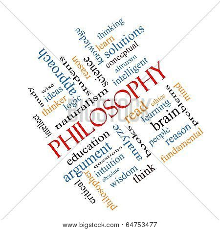 Philosophy Word Cloud Concept Angled