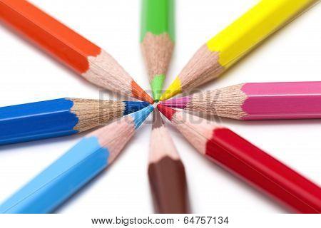 Colorful Pencils Macro