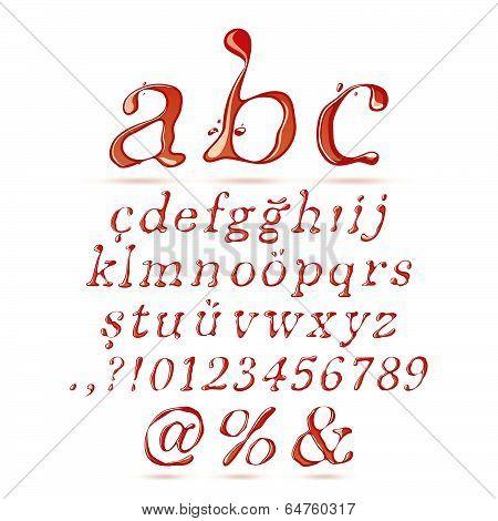 Ketchup alphabet lower case italic