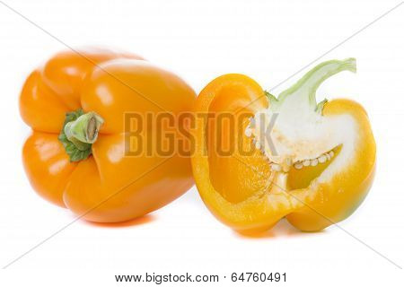 Fresh Paprika Isolated On White Background