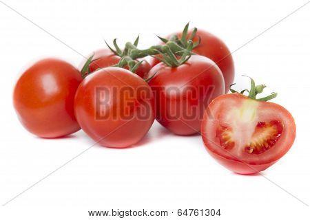 Fresh Tomatoes Isolated On White Background