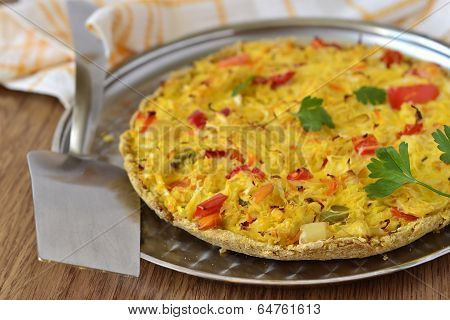 Tart with pickled cabbage