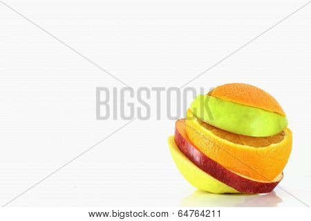 Some Slices Of Different Fresh Fruits