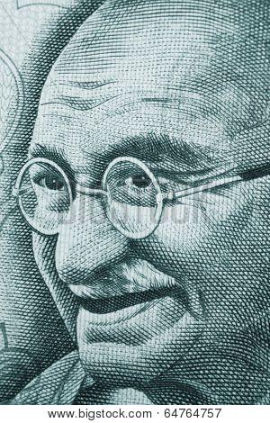 Mahatma Gandhi portrait on rupee note