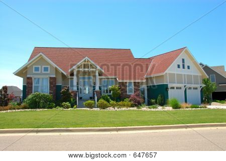 Craftsman Style House In Summer