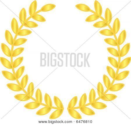 gold laurels