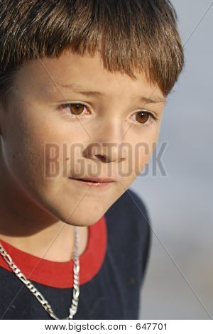 Boy Looking Sad Close-up