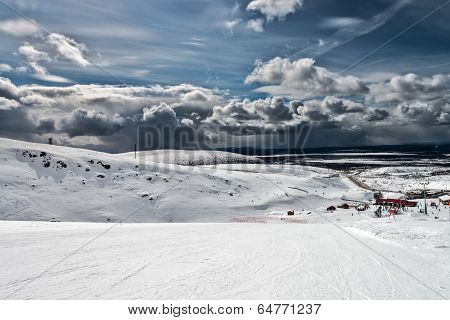 Ski Resort Kirovsk, Murmansk Region, Russia