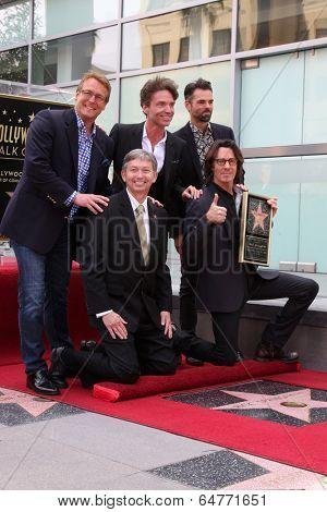 LOS ANGELES - MAY 9:  Joshua Springfield, Barbara Springfield, Rick Springfield, Michael Springthorpe at the Rick Springfield WOF Ceremony at Hollywood Blvd on May 9, 2014 in Los Angeles, CA