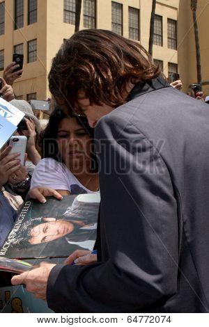 LOS ANGELES - MAY 9:  Rick Springfield, fans at the Rick Springfield Hollywood Walk of Fame Star Ceremony at Hollywood Blvd on May 9, 2014 in Los Angeles, CA