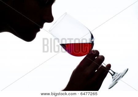 Man Smelling Wine