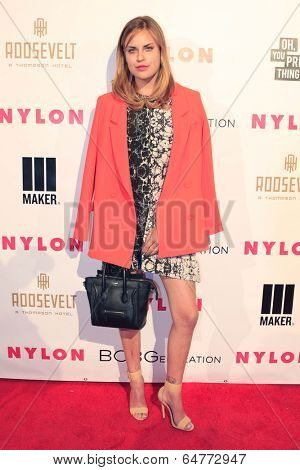 LOS ANGELES - MAY 8:  Tallulah Willis at the Nylon Magazine May Young Hollywood Issue Party at Tropicana Bar at The Hollywood Rooselvelt Hotel on May 8, 2014 in Los Angeles, CA