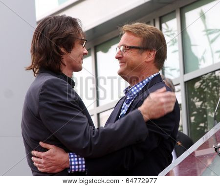 LOS ANGELES - MAY 9:  Rick Springfield, Doug Davidson at the Rick Springfield Hollywood Walk of Fame Star Ceremony at Hollywood Blvd on May 9, 2014 in Los Angeles, CA