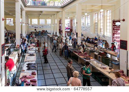 Ffish Market Famous Mercado Dos Lavradores Of Funchal, Madeira