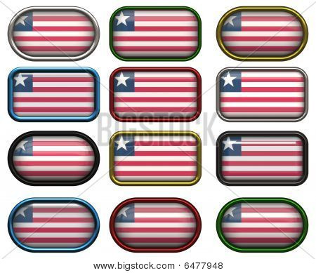 12 Buttons Of The Flag Of Liberia
