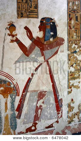 Egypt.luxor. Valley Of Kings Wall Paintings