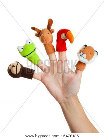 Hand With Animal Puppets