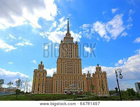 Radisson Ukraine Hotel Building In Moscow