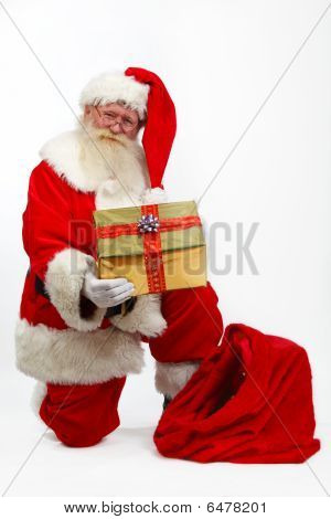 Father Christmas Giving Present