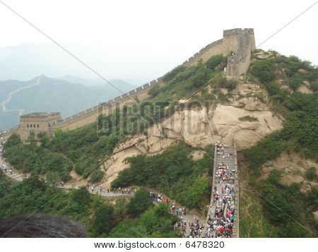 Atop the Great Wall of China
