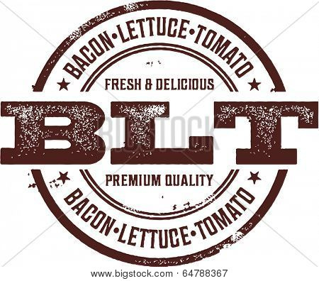 BLT Bacon Deli Sandwich Menu Stamp