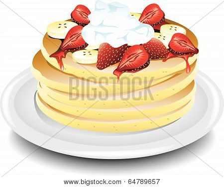 Pancake strawberry banana