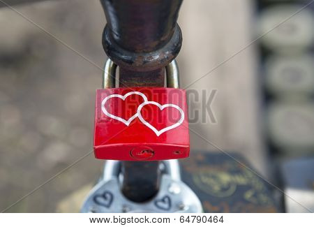 padlocks on bridge of lovers