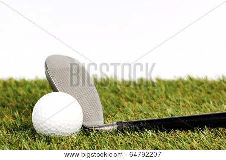 Golf Club  On The Grass