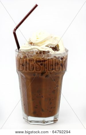 Ice Coffee Topping With Whipping Cream