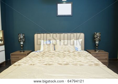 Bed In Furniture Show Room