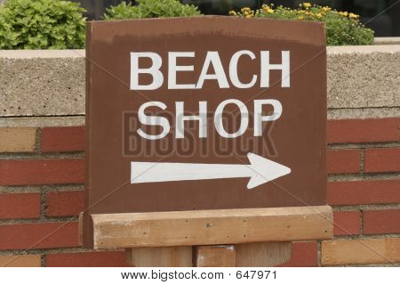 Beach Shop Sign
