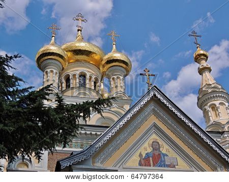 Crimea, Yalta, the Cathedral of sacred blagovernogo of Prince Alexander nevskogo. 25 June 2013god.