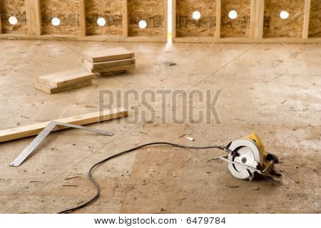 Electric Saw In Empty Room