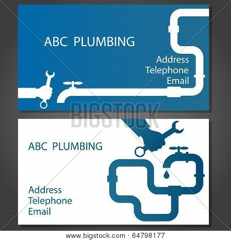 Business card for repair plumbing