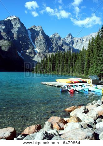 Beautiful Moraine Lake, Alberta, Canada
