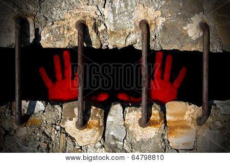 Bloody Hands Of A Prisoner